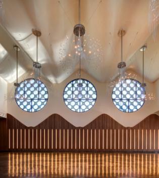 detalle techos salones hotel Mastinell