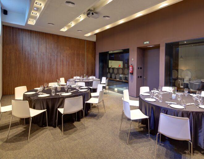 sala para eventos Mastinell hotel con bodega