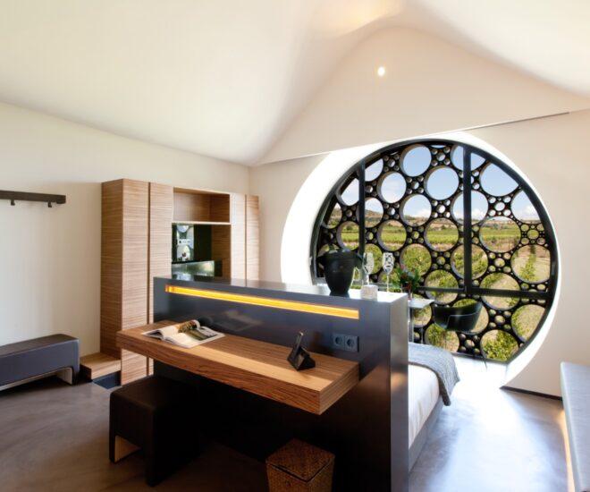 vistas habitación premium doble suite Mastinell hotel con bodega